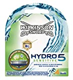 Wilkinson Sword Hydro 5 Sensitive Hoja Paquete 4, 4 unidades)