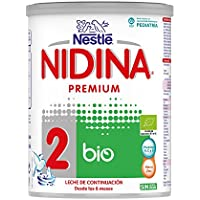 Nestlé NIDINA 2 BIO - Leche de continuación en polvo vio certificada por la UE - Fórmula Para bebés - A partir de los 6 meses - 800g