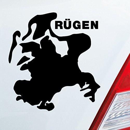 Insel Rügen (Auto Aufkleber in deiner Wunschfarbe Rügen Spaß Insel Deutschland Urlaub 10x9cm Autoaufkleber Sticker Folie)