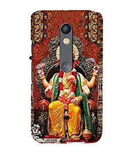 99Sublimation Lord Ganesha 3D Hard Polycarbonate Back Case Cover for Motorola Moto X Force :: Dual SIM