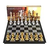 Xuanyang Magnetisches Schachspiel, tragbares magnetisches faltendes Schachbrett mit Teilen Spiel Sport Camping Reisen 14