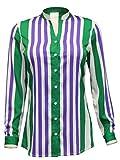 Attuendo Women's Vertical Striped Shirt ...