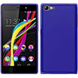 TBOC® Funda de Gel TPU Azul para Wiko Highway Star 4G de Silicona Ultrafina y Flexible