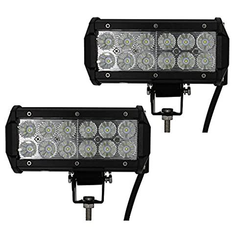 UNI FILTER Pair 7 Inch Led Work Light Bar 36w 3200LM Driving Pods Flood Beam Work Lamp For Off-Road Suv Boat 4X4 Jeep JK 4Wd Truck