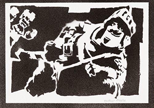 Poster Clash Royale Prince Grafiti Handmade - Handmade Street Art - Artwork