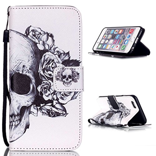 hyait® Case for iPhone 6Plus/6S Plus (5.5Inch) Printing Series Wrist Strap Leather Wallet Card Slot Bracket Flip Back Case Cover yb12 YB05 #0305