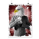 Oiseau Sauvage Animal Aigle Liberté Gars Matte/Glacé Affiche A2 (60cm x 42cm) | Wellcoda