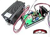 Fokussierbares Hochleistungs 2W 450nm blaues Laser-Punkt-Modul mit TTL 12V Eingang Holzschnitzerei + Gläser