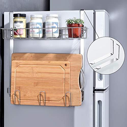 Kühlraum-hängendes Gewürz-Speicher-Regal, Organisator-Gestell, Arbeitsplatte-Schrank-Korb, Seitenwand-Kühlraum-Edelstahl-Gewürzglas-Flaschen-Regal über Tür-Wand-Speicher-Kasten