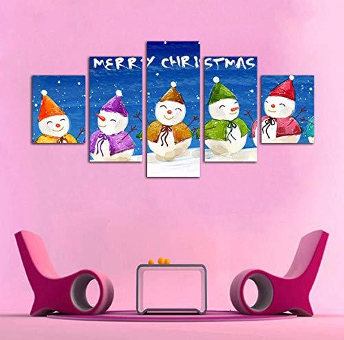 Dormitorio infantil animación pintura decorativa pintura en tinta Navidad muñeco de nieve-A_60 / 80/100 * 40_cm