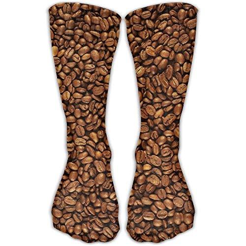 Kotdeqay Women&Men Coffee Beans Cotton Crew Socken Shoe US Sizes 6-10