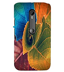 PrintDhaba Beautiful Leaf D-1155 Back Case Cover for MOTOROLA MOTO G3 (Multi-Coloured)