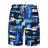 Hombres Pantalones de Playa, ❤️ Manadlian Hombre Bañadores De Natación Pantalones Cortos Bermudas Shorts Verano Sport Moda Surf Calzoncillos Trajes De Baño (B, CN:M)
