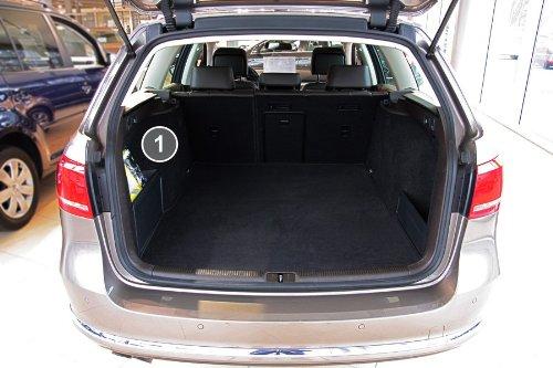 Tuning-Art 2801 Kofferraummatte 3-teilig, Rückbankschutz, Ladekantenschutz