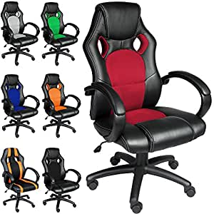 Deuba® Office Chair Racing Design✔ Gaming✔ Gamers Computer Desk Chair✔ PU Leather✔ Executive Recline Padded Swivel✔ Tilt Function✔ Ergonomic✔ Comfortable✔ High Back✔ Colour Choice