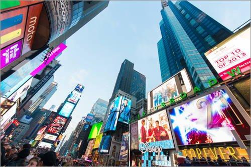 Poster 91 x 61 cm: Times Square Ort in New York von Editors Choice - hochwertiger Kunstdruck, neues Kunstposter