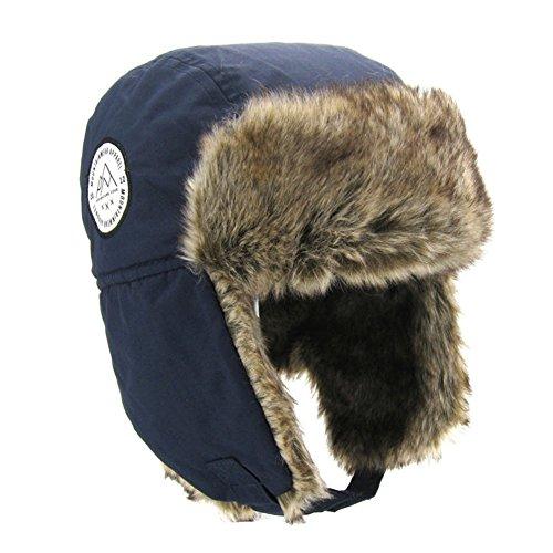 Fancy Luu Bomber Cap für Kinder Unisex Wintermütze Boys Ohrenschützer Warme Kapuze Pap Bequem Plüschhut,Blau,50-51