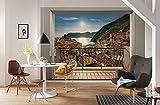 Komar 8-988 Fototapete aus Papier Vernazza, Größe: 368 x 254 cm (Breite x Höhe), 8 Teile, Inklusive Kleister, Made in Germany, Bunt