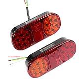 AOHEWEI 2stk LED Anhänger Rückleuchten Bremsleuchte Für Lkw 12v Blinklicht Wasserdicht Beleuchtung Hintenzum Auto Lkw Wohnwagen Oder Traktor (14 led chips-2pcs)