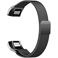 Fitbit Charge 2 Band, FanTEK Milanese Loop Replacement Stainless Steel Metal Sport Bracelet Smart Watch Strap with Unique Magnet Lock for 2016 Fitbit Charge 2 Fitness Tracker Heart Rate