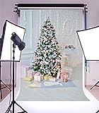 YongFoto 1,5x2,2m Foto Hintergrund Weihnachten Vinyl Weihnachtsdekoration Baumschmuck Geschenke Lichterketten Fotografie Hintergrund Foto Leinwand Kinder Fotostudio 150x220cm