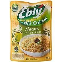 EBLY Blé Cuisiné Nature à l'huile d'olive 220 g - Pack de 12 unités