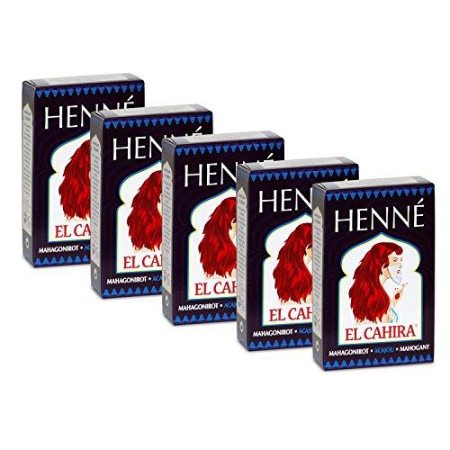 Henna Mahagoni Rot 5-er Pack (Frauen Henna Haarfarbe Für)