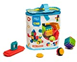 Seek'o Blocks - Jeu de construction 1er âge - Seek'o Blocks Multicolore - Sac 50 pièces - BA1001