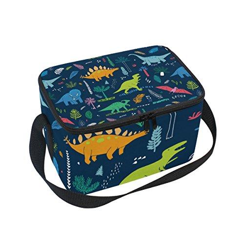 lichem Cartoon-Dinosaurier-Muster, isoliert, wiederverwendbar, für Outdoor-Reisen, Picknick-Taschen ()