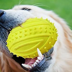 FineInno Jouet Chien Squeaky Pet Chew Toy Pets Jouet Frisbee Balle TPR Chien mâcher Jouet Nettoyage Dents Jouet pour Les Petites, Moyennes et Grandes Chien