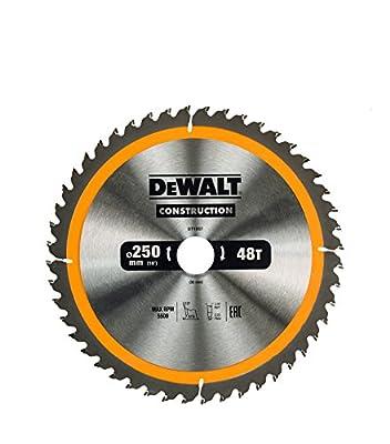 DEWALT DT1957 250 x 30 mm x 48T Construction Circular Saw Blade - Yellow