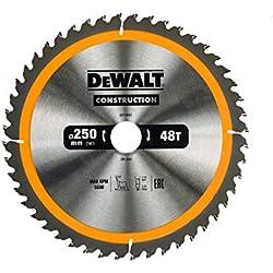 DeWALT DT1957250x 30mm x 48T-Lame de scie circulaire de chantier-Jaune