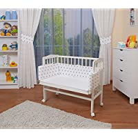 WALDIN Baby Bedside Cot Co-Sleeping height adjustable,untreated or white, 16 models available