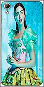 Snoogg Shy Chic Designer Protective Back Case Cover For HTC Desire 826