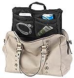 Xcase Taschenorganizer: Handtaschen-Organizer m. 13 Fächern, 29 x 17 x 8 cm, waschbar, schwarz (Innentasche)