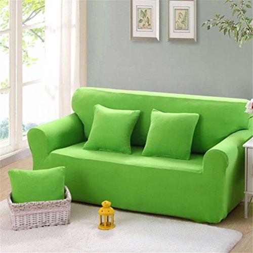 Lingjun copridivano ambivelle coprisofà copridivano elasticizzato contromacchie (verde, 4 posti)