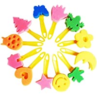 Teabelle Schwamm Farbe Stempel Pinsel Tools Kinder Kids Holzgriff Malerei Pinsel Early Learning Spielzeug-Set 5/x