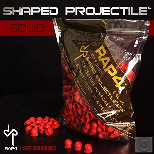 Shaped Paintball Projectiles Solid