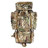 YAKEDA®Bolsos del alpinismo al aire libre tácticos hombros mochila bolsas de hombres y mujeres bolsa impermeable de gran capacidad de camuflaje mochila marco interno paquete 65L - 11 (camuflaje de tres arena)