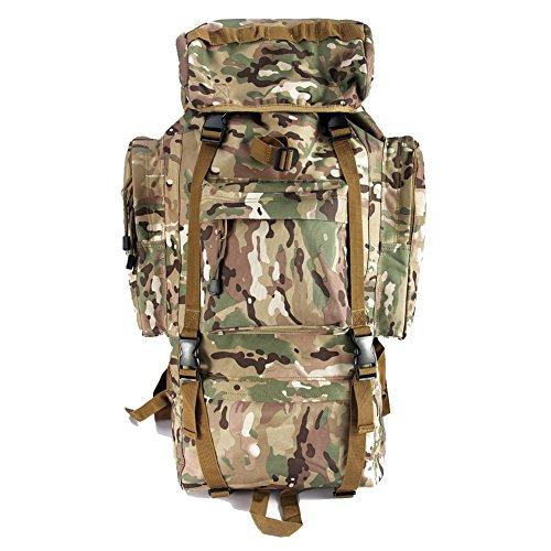 Imagen de yakeda®bolsos del alpinismo al aire libre tácticos hombros  bolsas de hombres y mujeres bolsa impermeable de gran capacidad de camuflaje  marco interno paquete 65l  11 camuflaje de tres arena