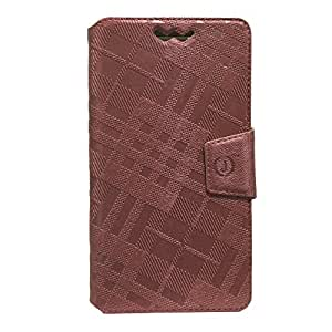 Jo Jo Cover Krish Series Leather Pouch Flip Case With Silicon Holder For LG Lucid 3 VS876 Coffee