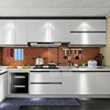1er UNION CA 0.61*5M Auto-Adhésif Stickers de Cabinet en Top Qualité PVC Rouleau de Papier Autocollant pour Meubles / Cuisine / Salle de bains Gris...