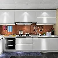Auralum® PVC Klebefolie Dekofolie 0.61*5M Schränke Tapeten Möbelfolie Küchenfolie Selbstklebend für Küchenschränke Möbel Silber