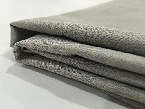 Peacock-stoff-handtaschen (jwtextec 48% Silber Faser RFID Stoff Elektrischer leitfähiger Stoff EMI Filter für Anti Strahlung Schutzkleidung, silber, 57x39.37 Inches(1.45mX1m))