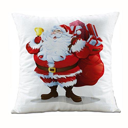Charberry Père Noël Taie d'oreiller Canapé Taille Throw Housse de coussin, Tissu super doux, K, Size: 45cm*45cm