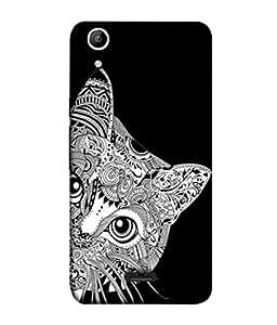 PrintVisa Designer Back Case Cover for Micromax Canvas Selfie 2 Q340 (Cat Pussy Kitty Black Animal Pet Hide )