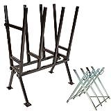 TecTake Holzsägebock für Kettensäge - diverse Modelle - (Silber / 'Typ 401492')