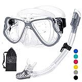 HENGBIRD Schnorchelset Tauchbrille mit Schnorchel Panorama-Sicht Professionelle Tauchmaske für...