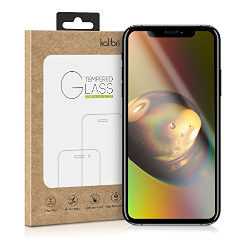 kalibri-Echtglas-Displayschutz-fr-Apple-iPhone-X-3D-Schutzglas-Full-Cover-Screen-Protector-mit-Rahmen-Glas-Folie-auch-fr-gewlbtes-Display-in-Schwarz