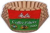 #9: Melitta 8-12 Cup Basket Filter Paper (Natural Brown, 200 Count)